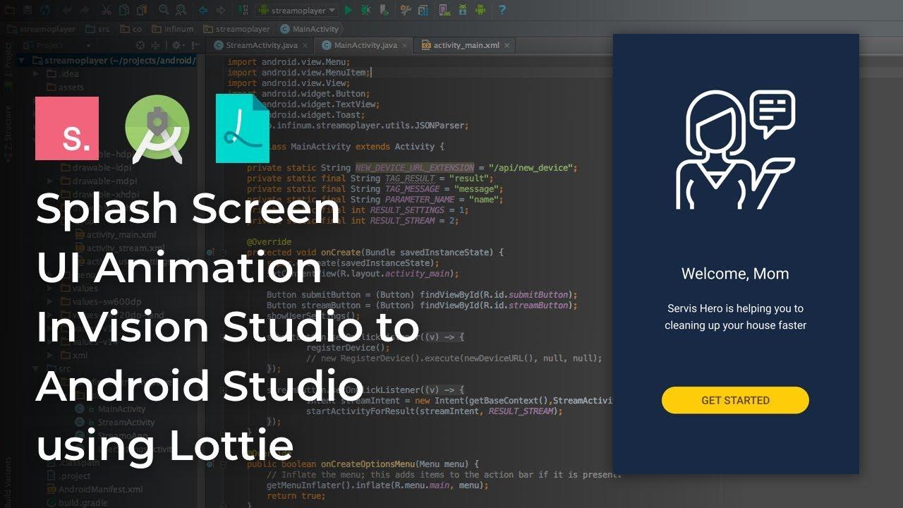 UI Animation InVision Studio to Android Studio Tutorial