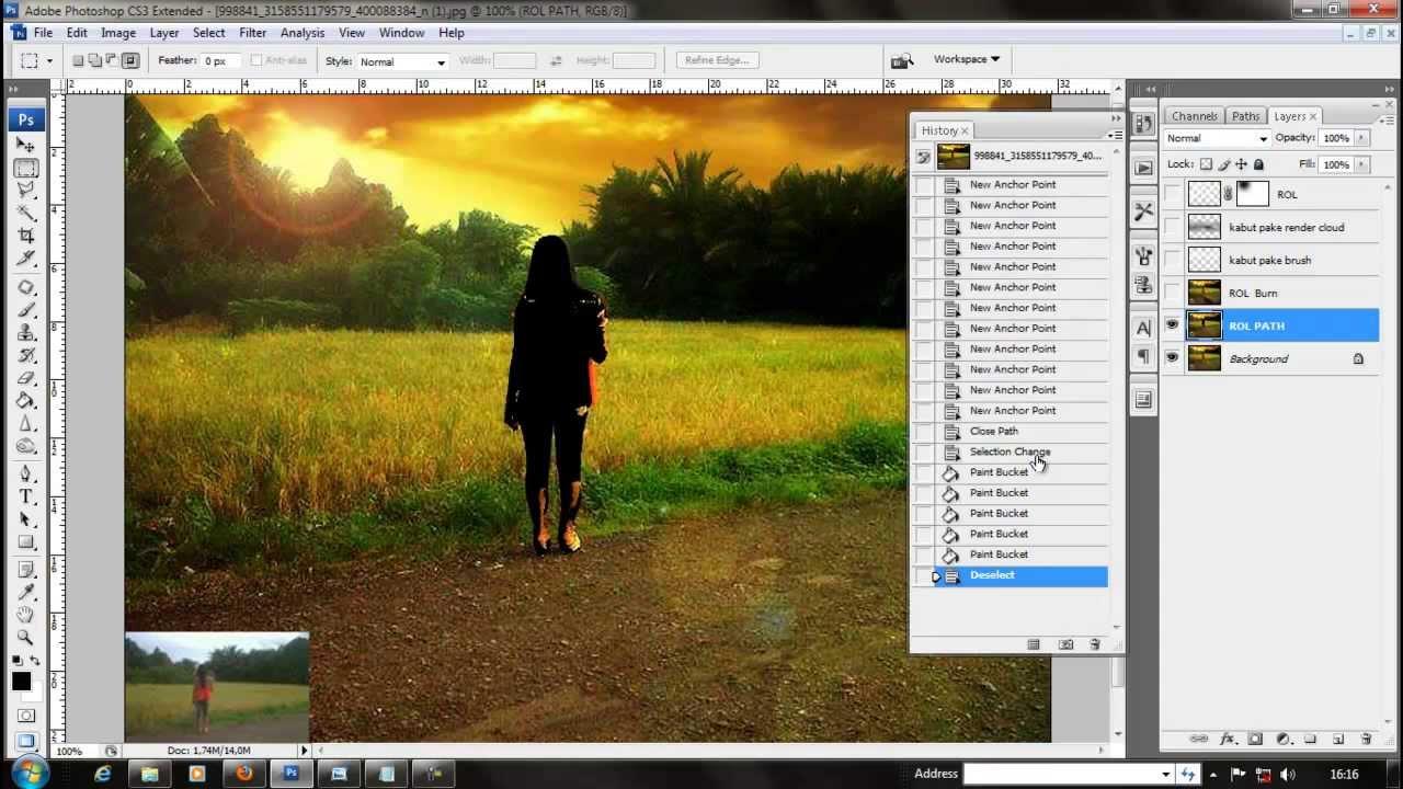 [TUTORIAL] Cara Membuat Kabut, ROL dan Shadow Menggunakan Photoshop dan Tanpa Plugin