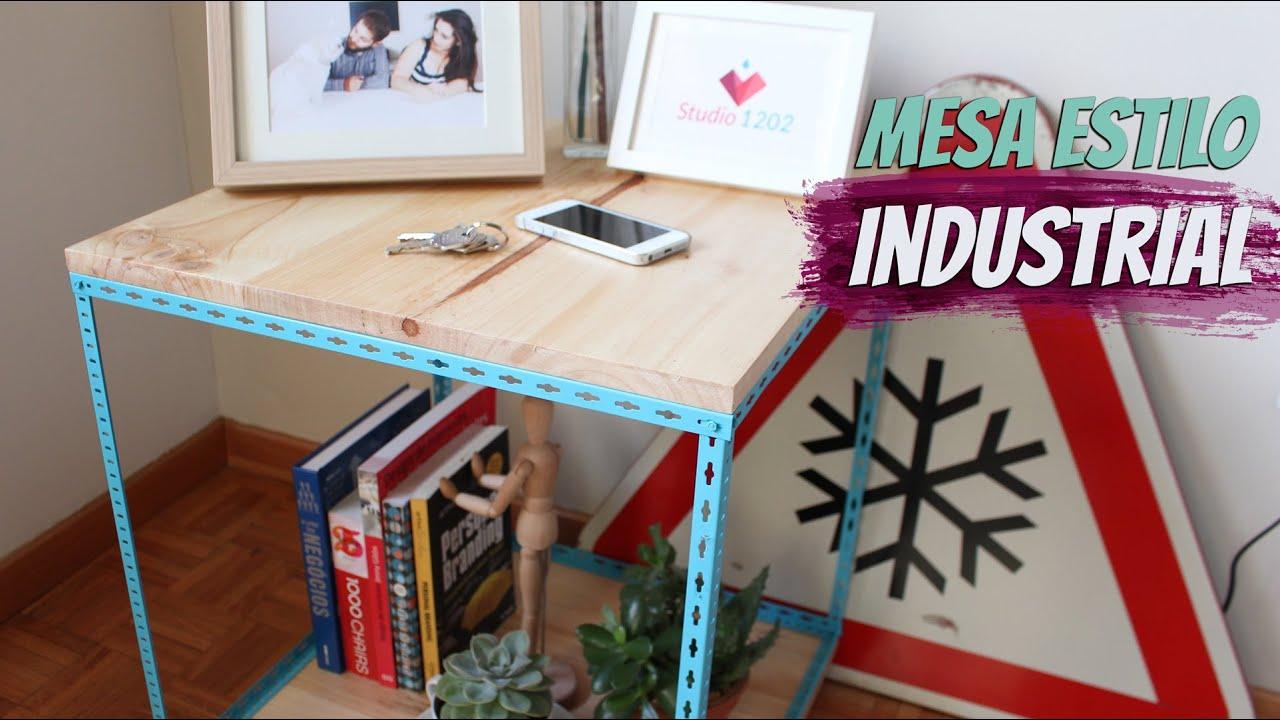 DIY  Como fazer uma mesa lateral estilo industrial para a