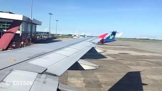 Video Air Asia Airbus A320-216 Sunny Landing @Kuching download MP3, 3GP, MP4, WEBM, AVI, FLV Juni 2018
