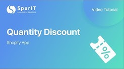 Quantity Discount Shopify App - Tutorial Video by SpurIT