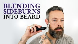 How to blend sideburns into your beard