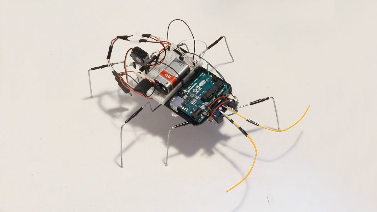 Homemade robot with arduino insect youtube