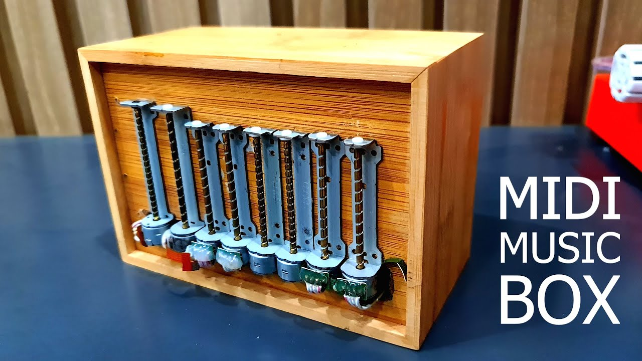 สร้างกล่องเล่น midi โดยใช้สเต็ปปิ้งมอเตอร์ไดรฟ์ซีดี 8 ตัว