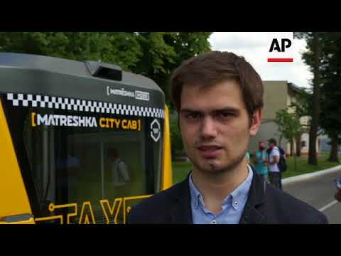 Driverless taxi unveiled in Moscow