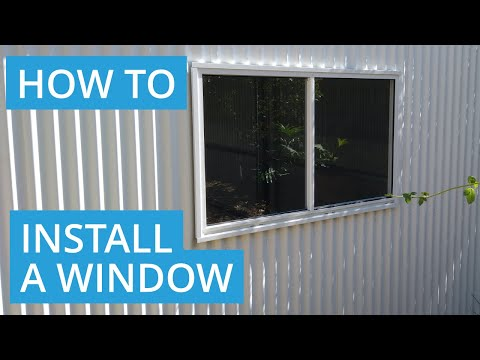 How to Install a Shed Window