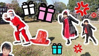 ★「お寝坊サンタにおうくんのプレゼント盗まれた~?」公園でピクニック★ thumbnail
