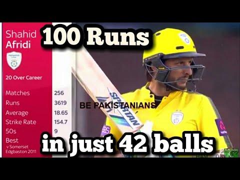 Shahid Afridi 101 of 42 Balls Natwest Quatar Final 2017 HD