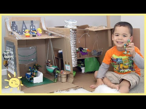PLAY | Ninja Turtle Lair! (Cardboard Box)