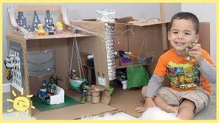 PLAY   Ninja Turtle Lair! (Cardboard Box)