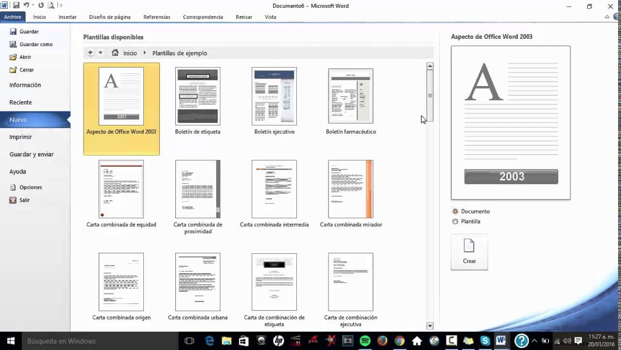 Como crear un curriculum usando una plantilla de Microsoft Word ...