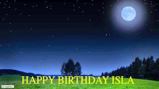 Isla  Moon La Luna - Happy Birthday