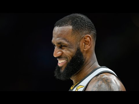 LeBron James reacts to his game-winning buzzer-beater in OT | Cavs-Wolves | Feb. 7, 2018