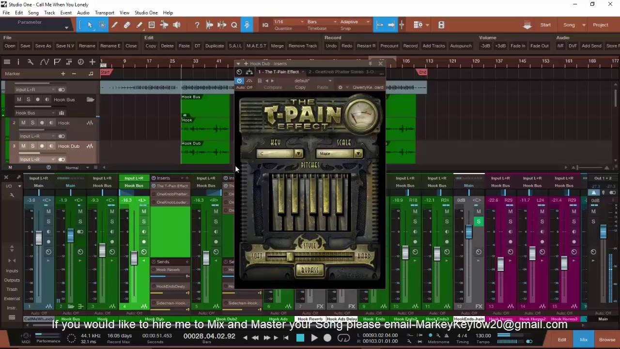 Presonus Studio One 3 How To Auto-tune R&B Vocals By  (DoubleK Production)