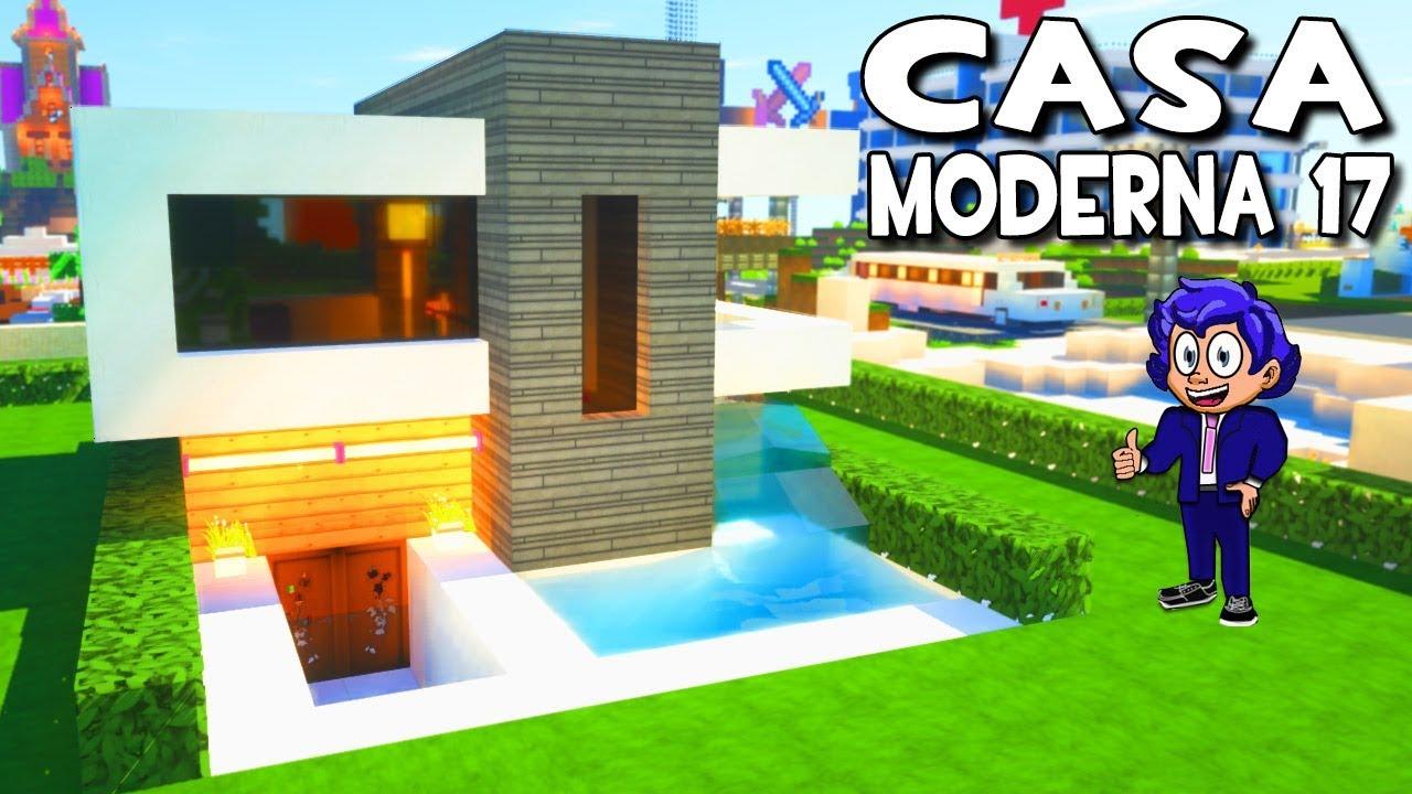 Casa moderna 17 con piscina en minecraft tutorial f cil en for Casa moderna 8 en minecraft mirote y blancana