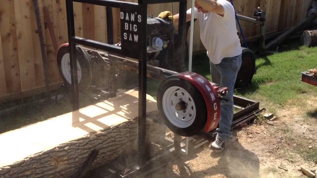 Homemade Bandsaw Sawmill Youtube