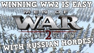 Using ONLY Russian Conscripts To Win WW2 - Men Of War: Assult Squad 2