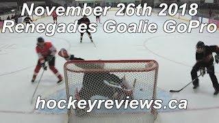 November 22nd 2018 Renegades Callup Hockey Goalie GoPro