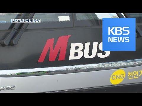 광역급행 'M버스' 잇단 폐선 신고…시민들 '발동동' / KBS뉴스(News)