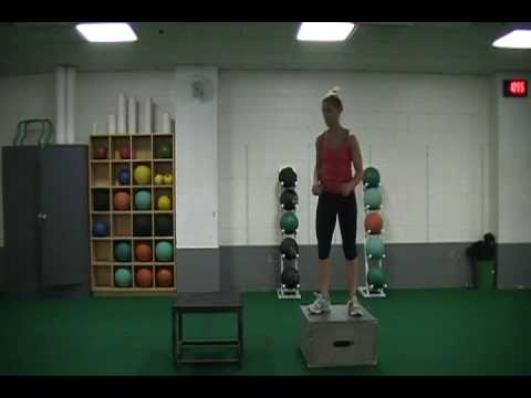 lateral depth drop to lateral box jump bound - YouTube