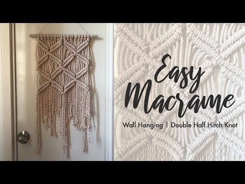easy-macrame-wall-hanging-(using-double-half-hitch-knots)-|-easy-wall-decor-diy