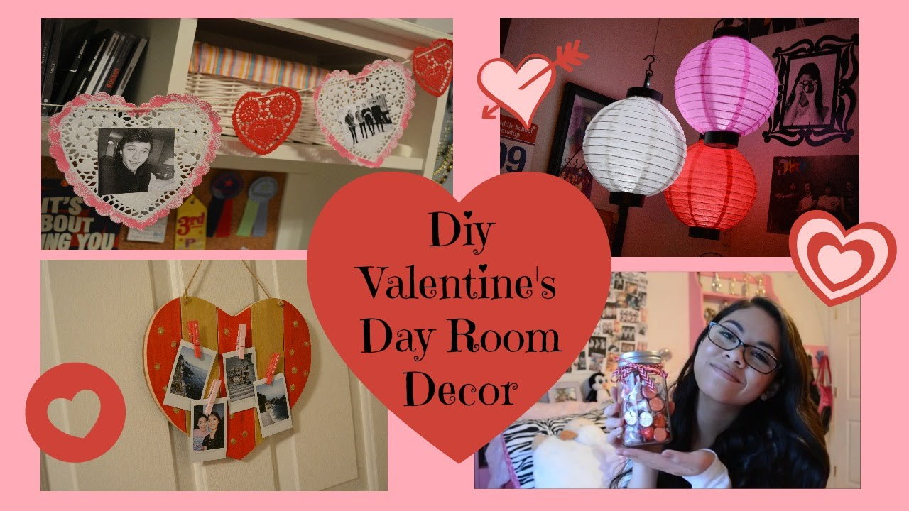 Diy valentines day room decor youtube for Valentine s day room decor