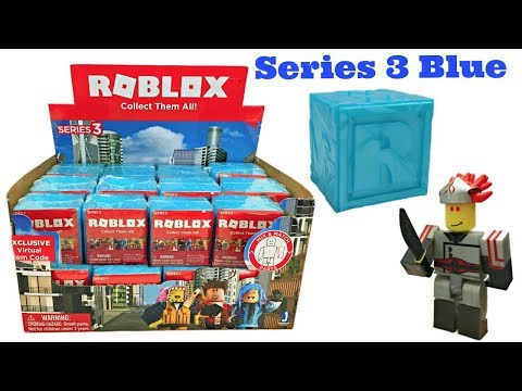 Roblox Toys, Series 3 Blue, Blind Boxes & Codes, Full Case, Unboxing & Toy Review