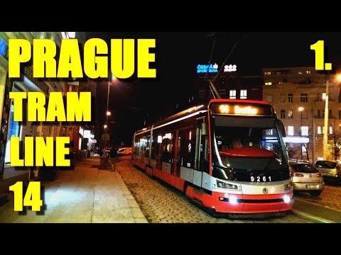 Tram line 14 * PRAGUE (Czech Republic) * part 1