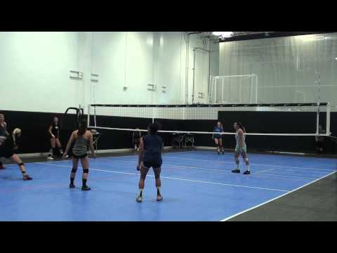 FITS Summer 15 - Occidental College VB on-court morning session #1