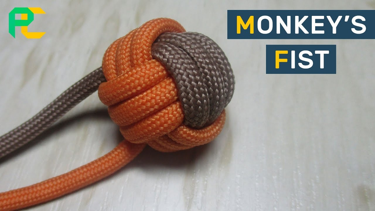 how to make monkey s fist two color