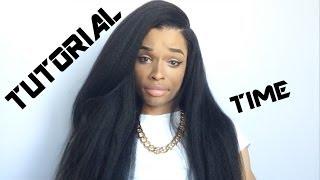 How To Lay A Natural Italian Yaki Silktop Wig Tutorial Aprillacewigs Com Youtube