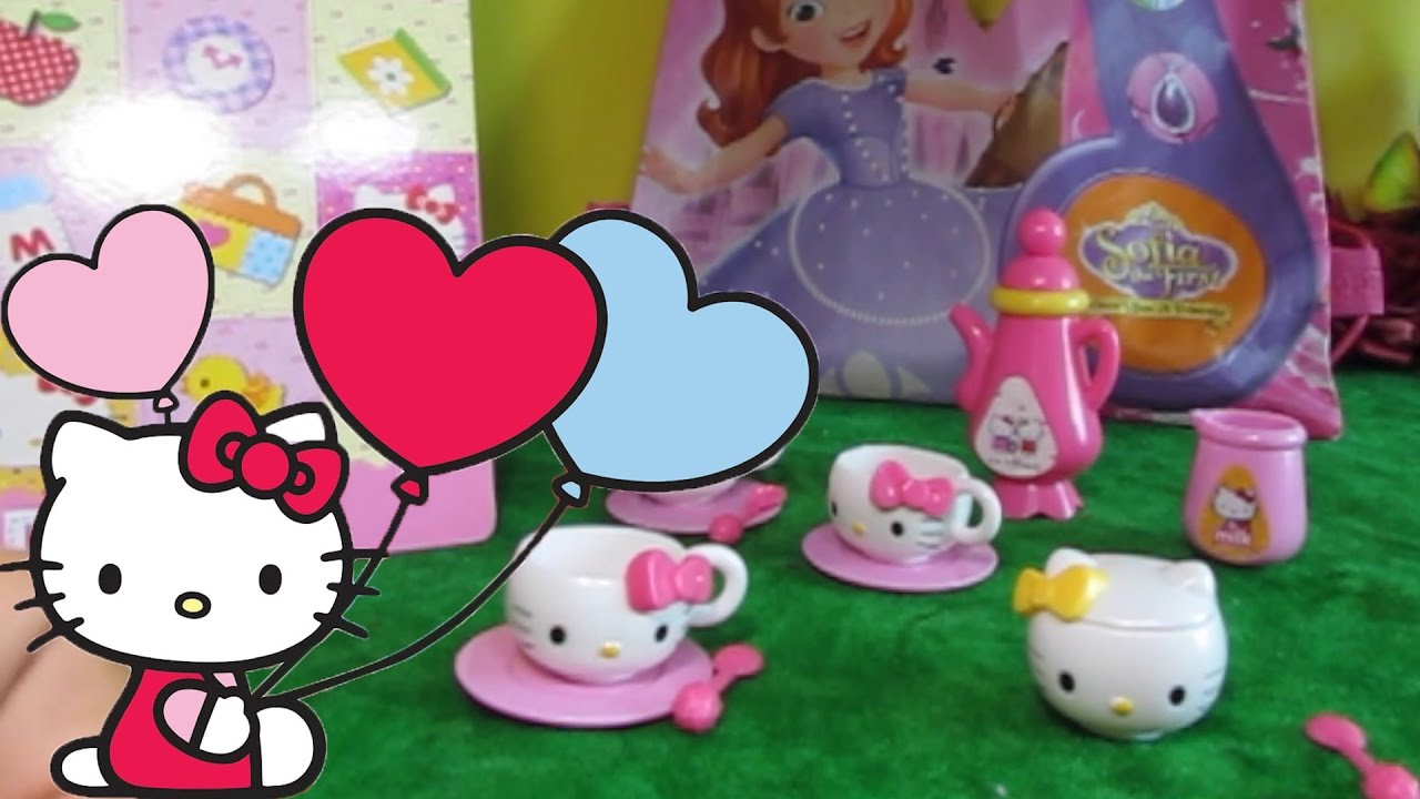 Hello Kitty Sanrio Tea Set Review and Unboxing from a Disney