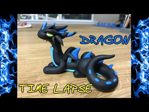 Time Lapse Polymer Clay Dragon