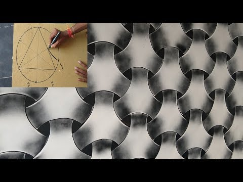 WALL PAINTING 3D EFFECT DESIGN ON BLACK SPARY
