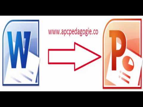 Convertir Un Document Word En PowerPoint