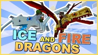 DRAGONS IN MINECRAFT • Ice and Fire Mod Showcase • Minecraft Mod Review
