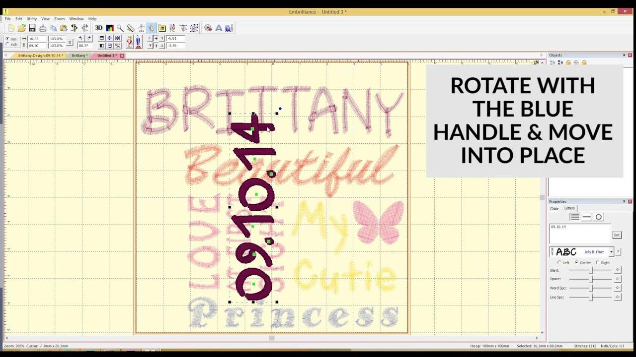 embrilliance birth print embroidery design youtube