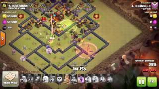 Clash of Clans, Valkyrie attack, TH10 100%, 3 Stars, attack 138