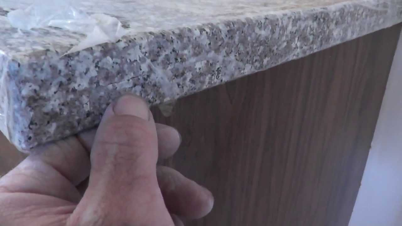 How To Install Granite Countertops On A Budget   Part 5   Sandpaper Polish  Job   YouTube