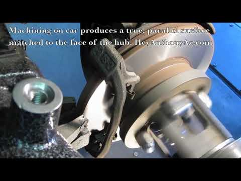 Tony's Service Center – Brake Rotor, on car machining, HeyAnthonyAz.com – auto repair 85016