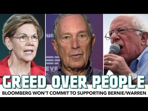 Bloomberg Won't Commit To Supporting Bernie/Warren Over Trump