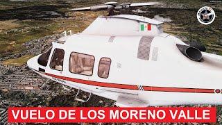 Vuelo del Helicóptero de los Moreno Valle - XA-BON