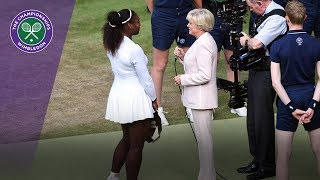 Serena Williams - I was playing for all the moms | Wimbledon 2018