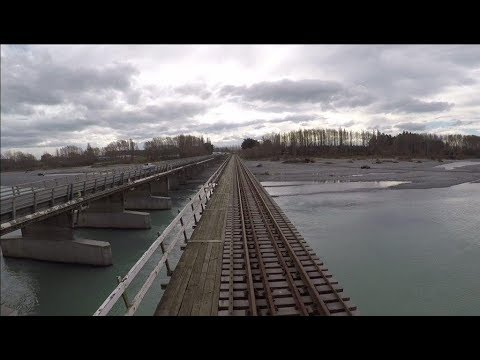 Geoffs Rail View :  Waipara to Christchurch   real time spee