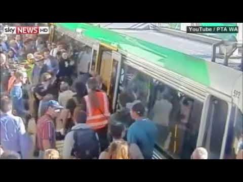 Commuters Push Train To Free Trapped Passenger
