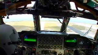 B-52 Stratofortress Cockpit View - Take-off, Landing.