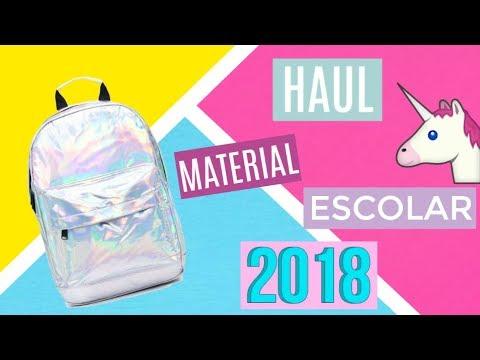 HAUL MATERIAL ESCOLAR 2018/¿QUÉ HAY EN MI MOCHILA 2018?/Srta Lu♥