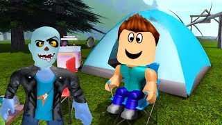 Steve ve zombik Kamp Kurup Patituyor ⛺ - Roblox