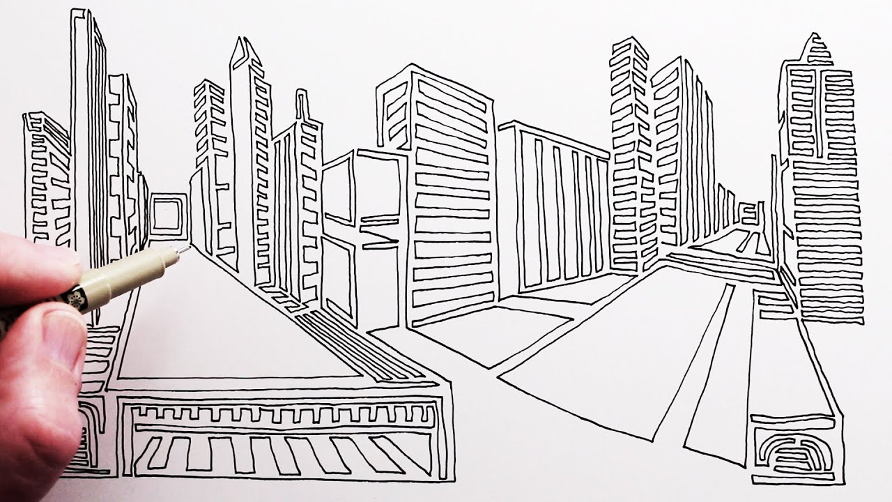 How to Draw a City: One Line Drawing Challenge