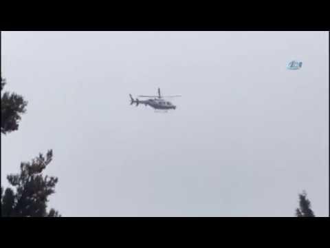 Büyükçekmece'de Helikopter Düştü!